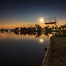 Sunny Lakes at night by Zoltán Duray