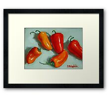 Mini Pepper Study No 3 Framed Print