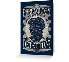 Phrenology of a detective - Sherlock Greeting Card