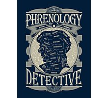 Phrenology of a detective - Sherlock Photographic Print