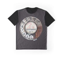 Retro Rotary Phone Dial On Graphic T-Shirt