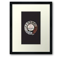 Retro Rotary Phone Dial On Framed Print