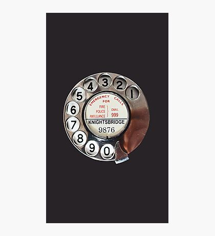 Retro Rotary Phone Dial On Photographic Print