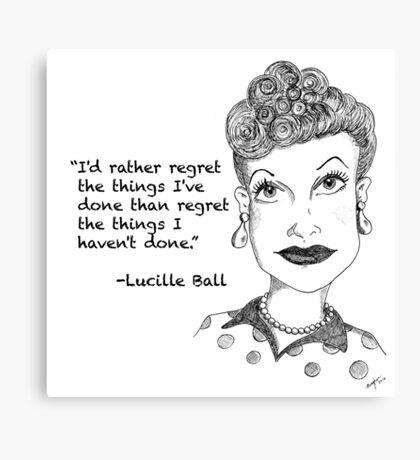 Lucille Ball - Regret Canvas Print