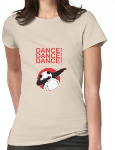 dancing panda Womens Fitted T-Shirt