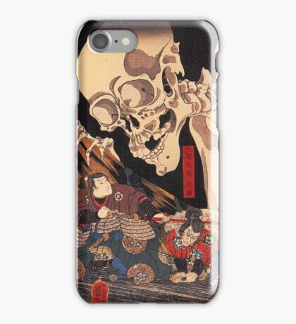 Mitsukuni defying the skeleton spectre iPhone Case/Skin