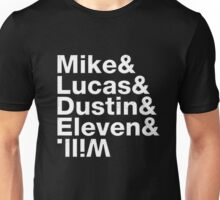 mike lucas dustin eleven will upside down Unisex T-Shirt