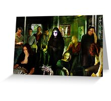 Midnight on the Subway Greeting Card