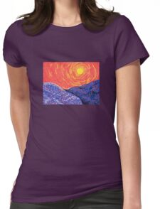 Mini Landscape 1 Womens Fitted T-Shirt