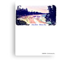 Manly Beach Christmas Day Canvas Print