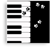 Black and white pattern . Piano .  Canvas Print