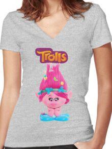 poppy from trolls Women's Fitted V-Neck T-Shirt