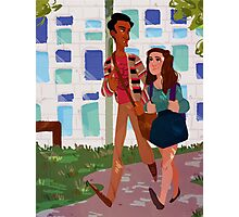 Walk to Class - Annie&Abed Photographic Print