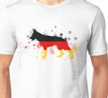 German Shepherd: German Flag Unisex T-Shirt