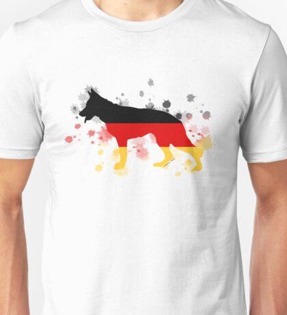 German Shepherd: German Flag Unisex T-Shirt