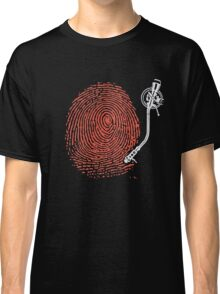 Dj fingerprint Classic T-Shirt