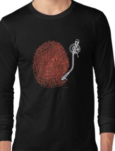 Dj fingerprint Long Sleeve T-Shirt