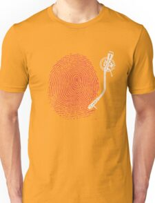 Dj fingerprint Unisex T-Shirt