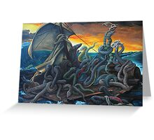 Raft of Reptile Rescue after Gericault Greeting Card