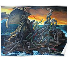 Raft of Reptile Rescue after Gericault Poster