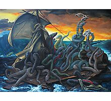 Raft of Reptile Rescue after Gericault Photographic Print