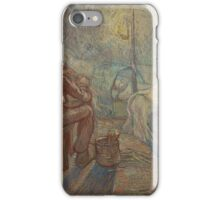 Evening (after Millet) Saint-Rémy-de-Provence, October - November  Vincent van Gogh () iPhone Case/Skin
