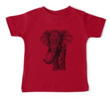 Ornate Elephant Baby Tee