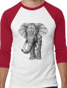 Ornate Elephant Men's Baseball ¾ T-Shirt