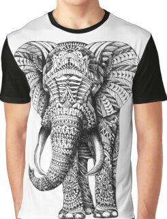 Ornate Elephant Graphic T-Shirt