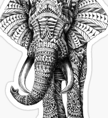 Ornate Elephant Sticker