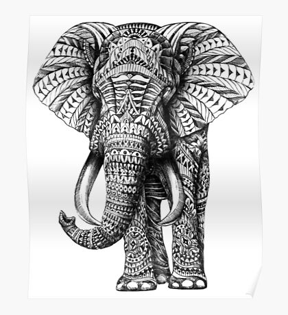 Ornate Elephant Poster