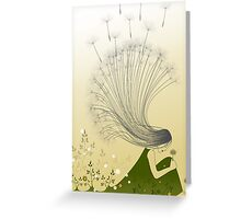 * the girl with dandelion hair * Greeting Card
