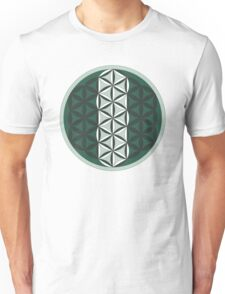 Sacred Geometry: Flower Of Life - Sacred Duality (Green) Unisex T-Shirt