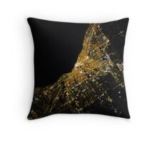 Cleveland from above Throw Pillow
