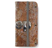 Rustic Jeep with chrome typograph iPhone Wallet/Case/Skin