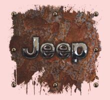 Rustic Jeep with chrome typograph One Piece - Short Sleeve