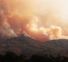 Black Bart Wildfire near Lake Mendocino by Krissa Klein