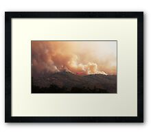 Black Bart Wildfire near Lake Mendocino Framed Print