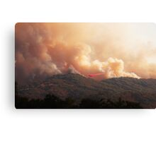 Black Bart Wildfire near Lake Mendocino Canvas Print