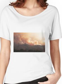 Black Bart Wildfire near Lake Mendocino Women's Relaxed Fit T-Shirt