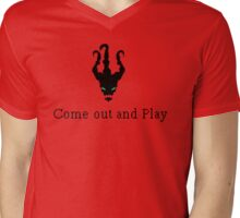 Come out and Play Mens V-Neck T-Shirt