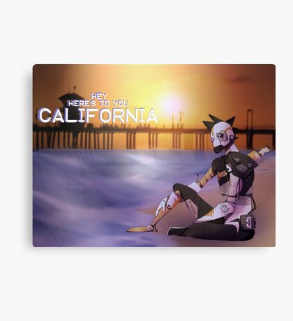 California Robot Canvas Print