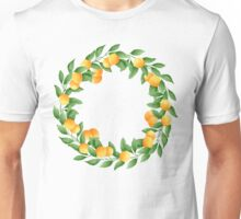 Watercolor Tangerines Pattern Unisex T-Shirt