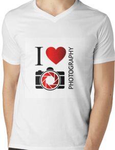 I love photography Mens V-Neck T-Shirt