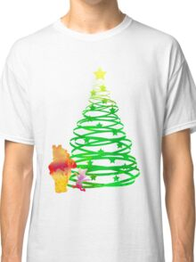 Christmas Bear and Pig Inspired Silhouette Classic T-Shirt
