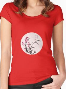 Red Iris Women's Fitted Scoop T-Shirt