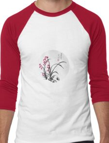 Red Iris Men's Baseball ¾ T-Shirt