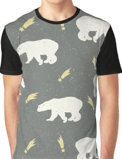 Shooting Star Polar Bears Graphic T-Shirt