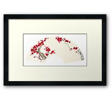 Plum Blossom In Fan Framed Print