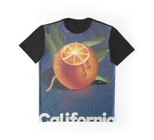 California Orange Retro Style vacation poster  Graphic T-Shirt